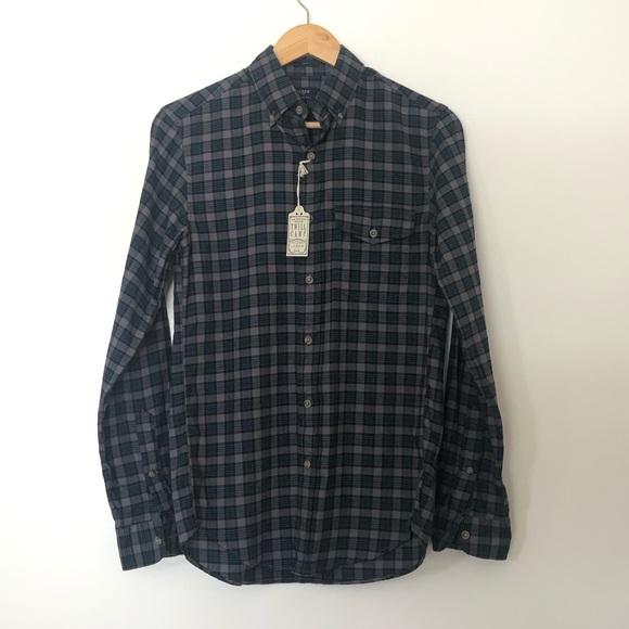 NWT J. Crew Brushed Twill Plaid Button Down Shirt
